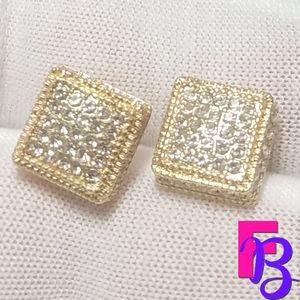 14k Pave CZ Earrings